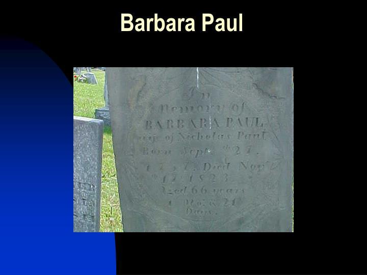 Barbara Paul