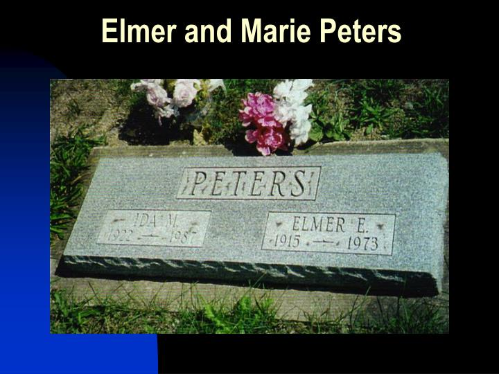 Elmer and Marie Peters