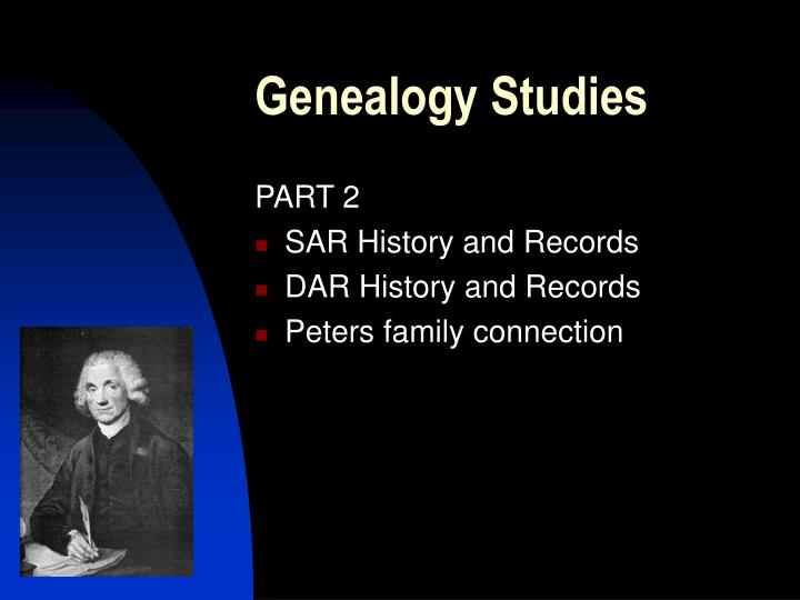 Genealogy Studies