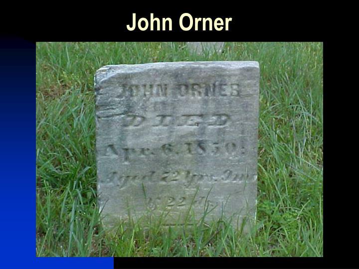 John Orner