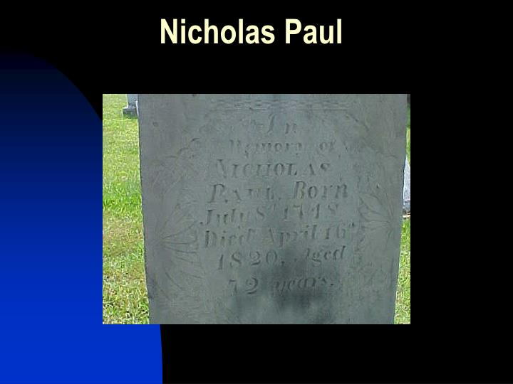 Nicholas Paul
