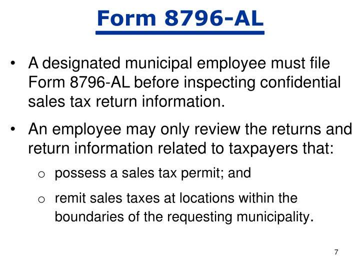 Form 8796-AL