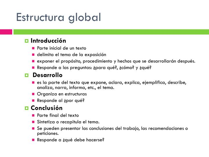 Estructura global