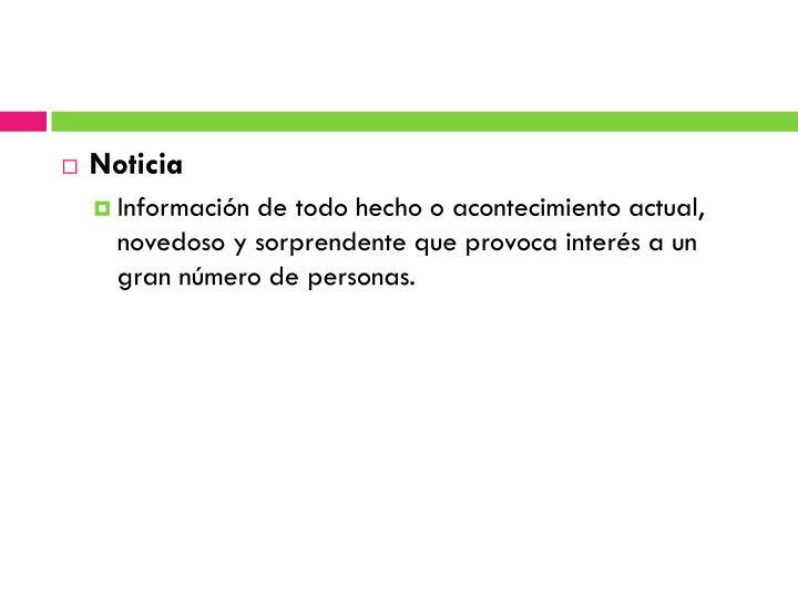 Noticia
