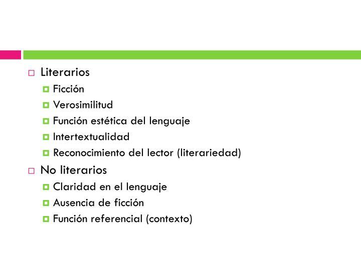 Literarios