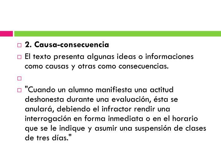 2. Causa-consecuencia