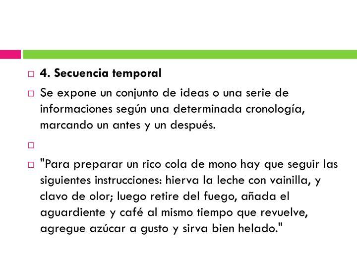 4. Secuencia temporal