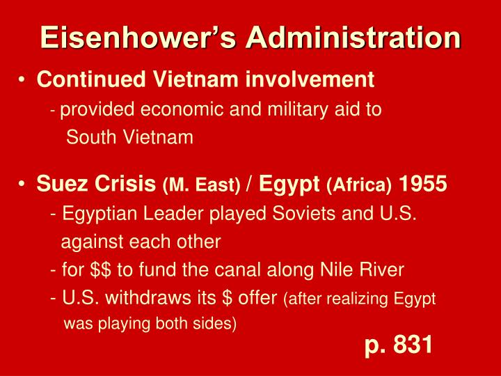 Eisenhower's Administration