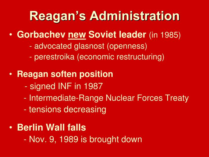Reagan's Administration