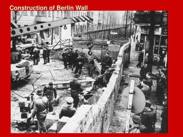 Construction of Berlin Wall