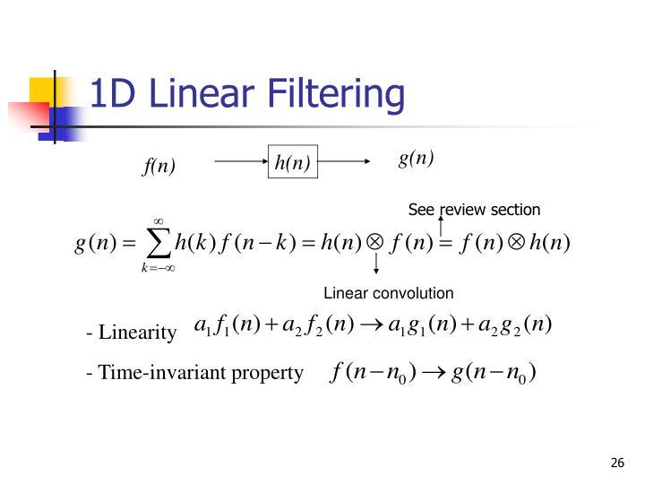 1D Linear Filtering