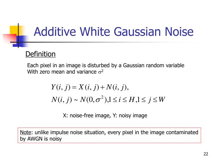 Additive White Gaussian Noise