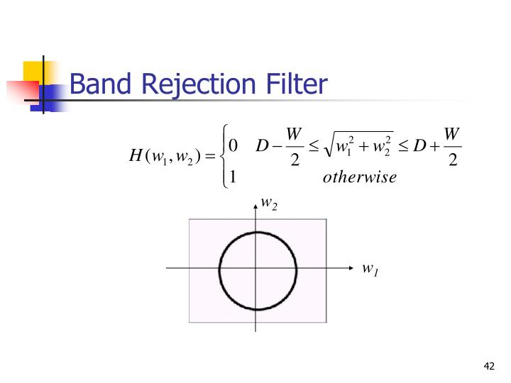 Band Rejection Filter