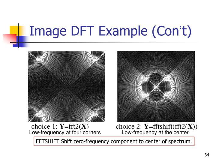 Image DFT Example (Con