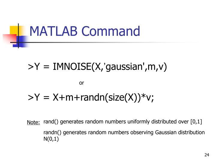 MATLAB Command