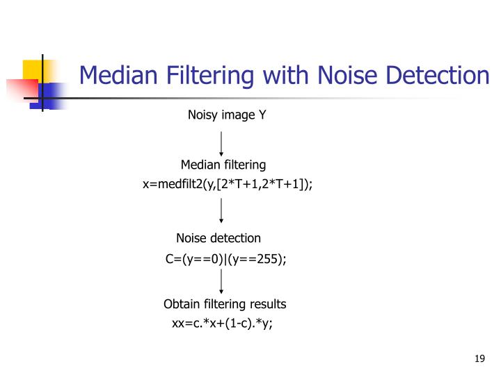 Median Filtering with Noise Detection