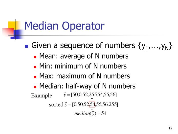 Median Operator