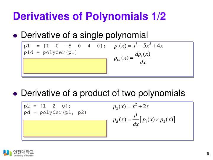 Derivatives of Polynomials 1/2