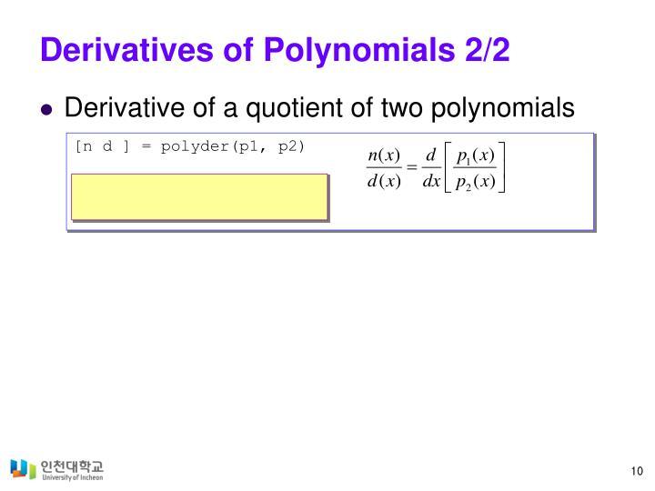 Derivatives of Polynomials 2/2