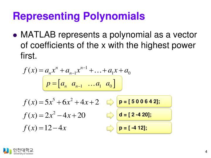 Representing Polynomials