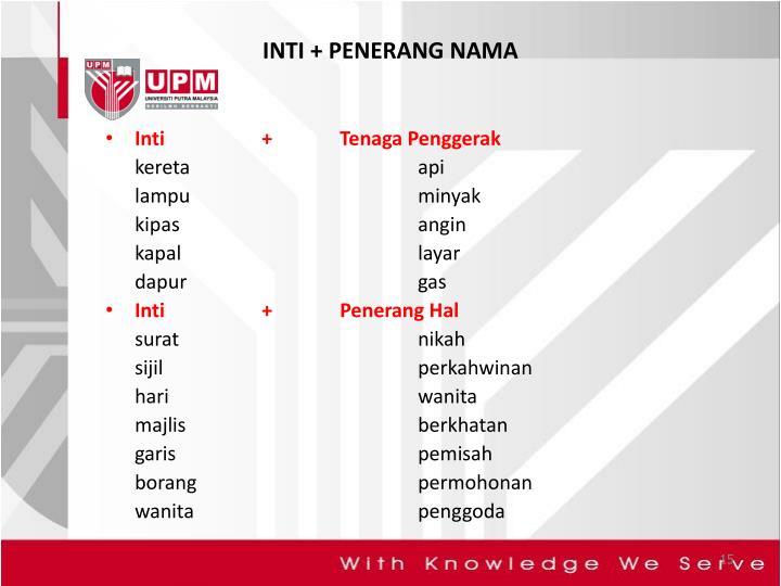 INTI + PENERANG NAMA