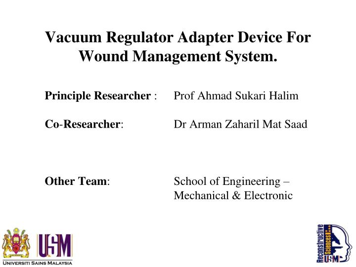 Vacuum regulator adapter device for wound management system1