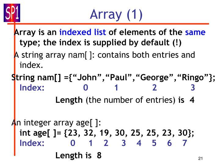 Array (1)