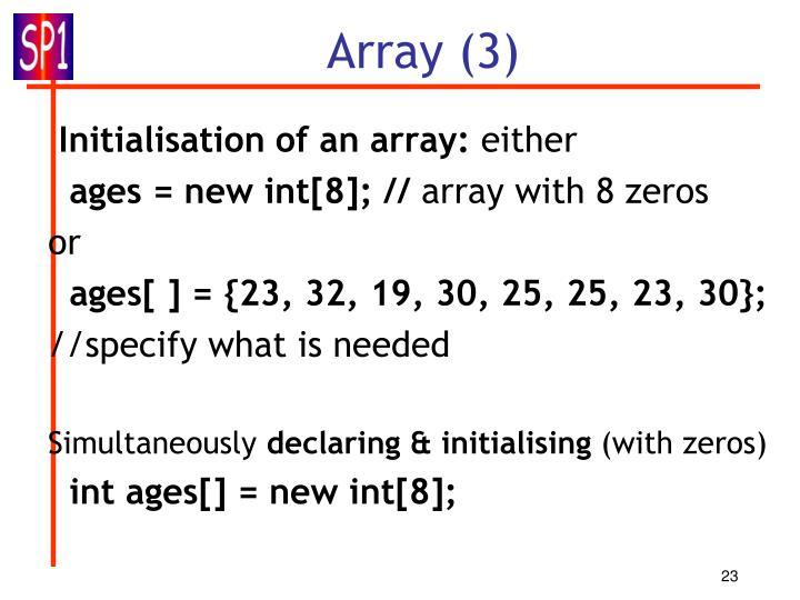 Array (3)