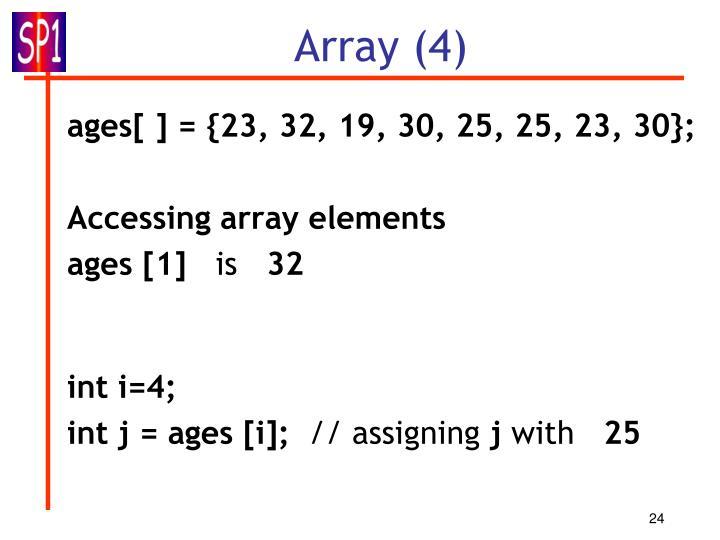 Array (4)