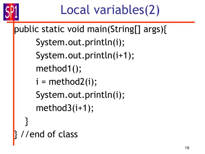 Local variables(2)