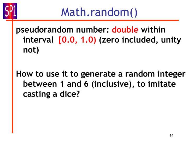 Math.random()