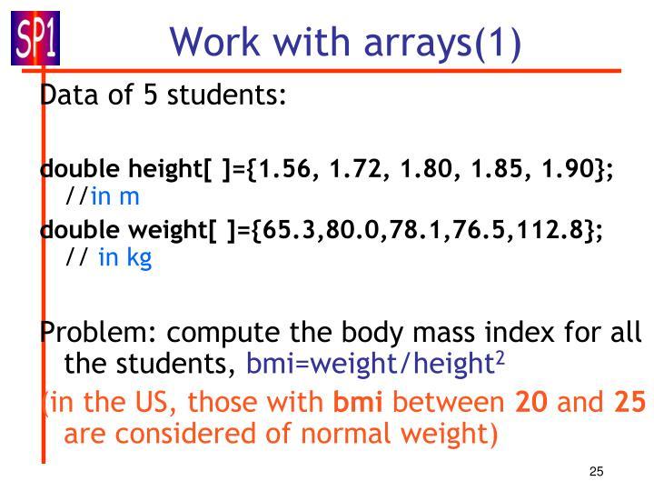Work with arrays(1)