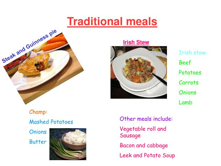 Traditional meals