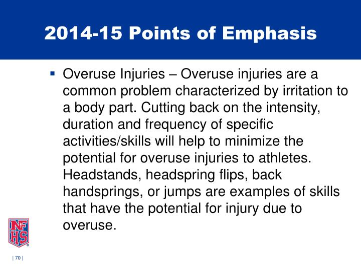 2014-15 Points of Emphasis