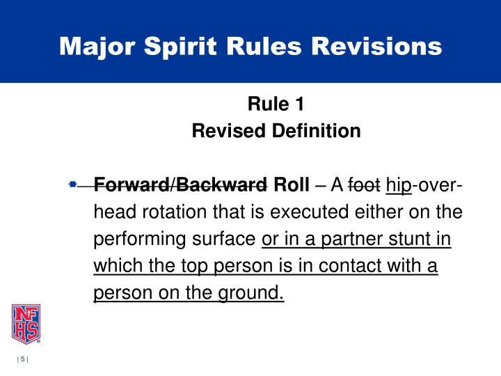 Major Spirit Rules Revisions