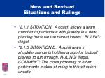 new and revised situations and rulings