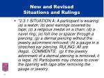 new and revised situations and rulings1