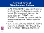 new and revised situations and rulings15