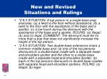 new and revised situations and rulings16