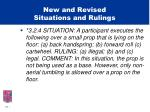 new and revised situations and rulings21