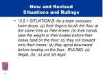 new and revised situations and rulings23