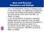 new and revised situations and rulings4