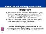 nfhs online meeting evaluation