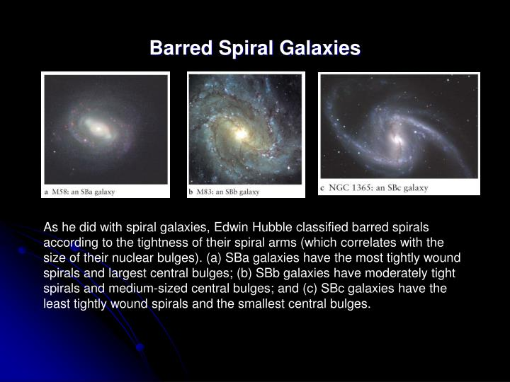 Barred Spiral Galaxies
