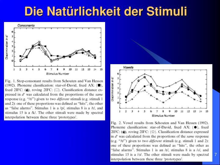 Die Natürlichkeit der Stimuli