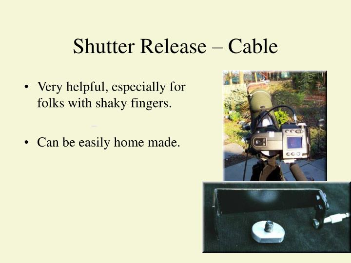 Shutter Release – Cable