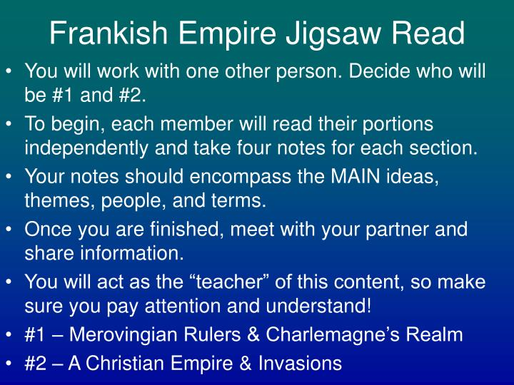 Frankish Empire Jigsaw Read