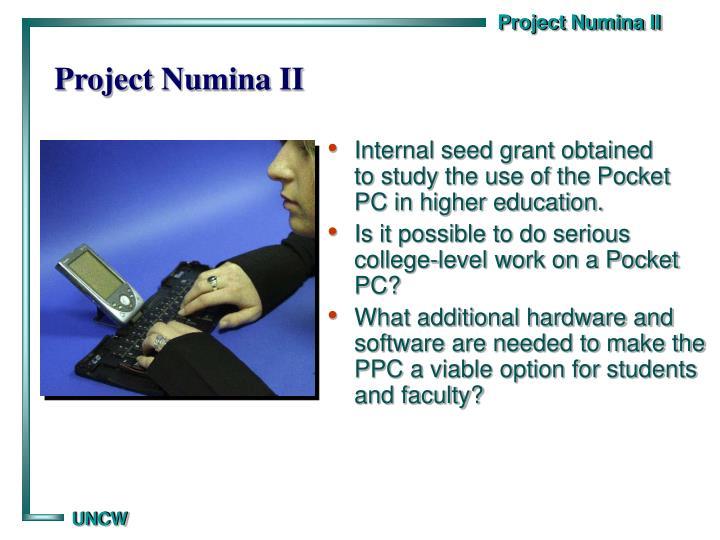 Project Numina II