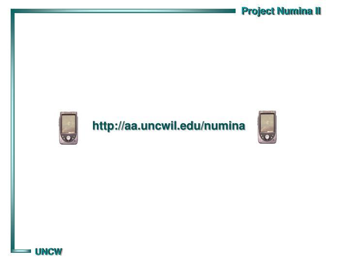 http://aa.uncwil.edu/numina