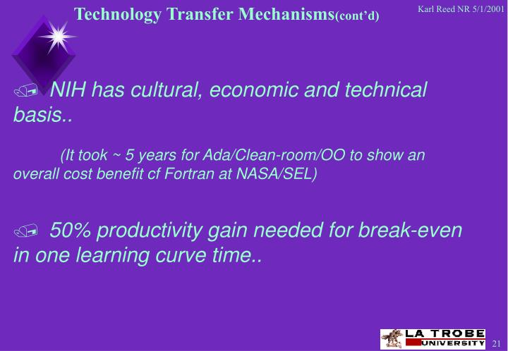 Technology Transfer Mechanisms